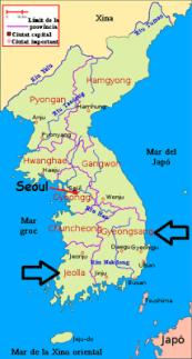 geongsang and jeolla
